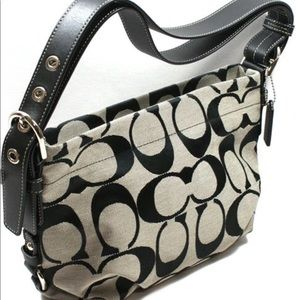 Coach Black and Grey Duffle Bag